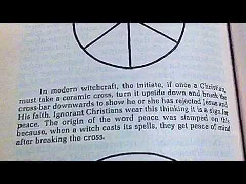 The origin of the PEACE symbol (SATANIC?) Illuminati 666 book #2 | Christians beware.