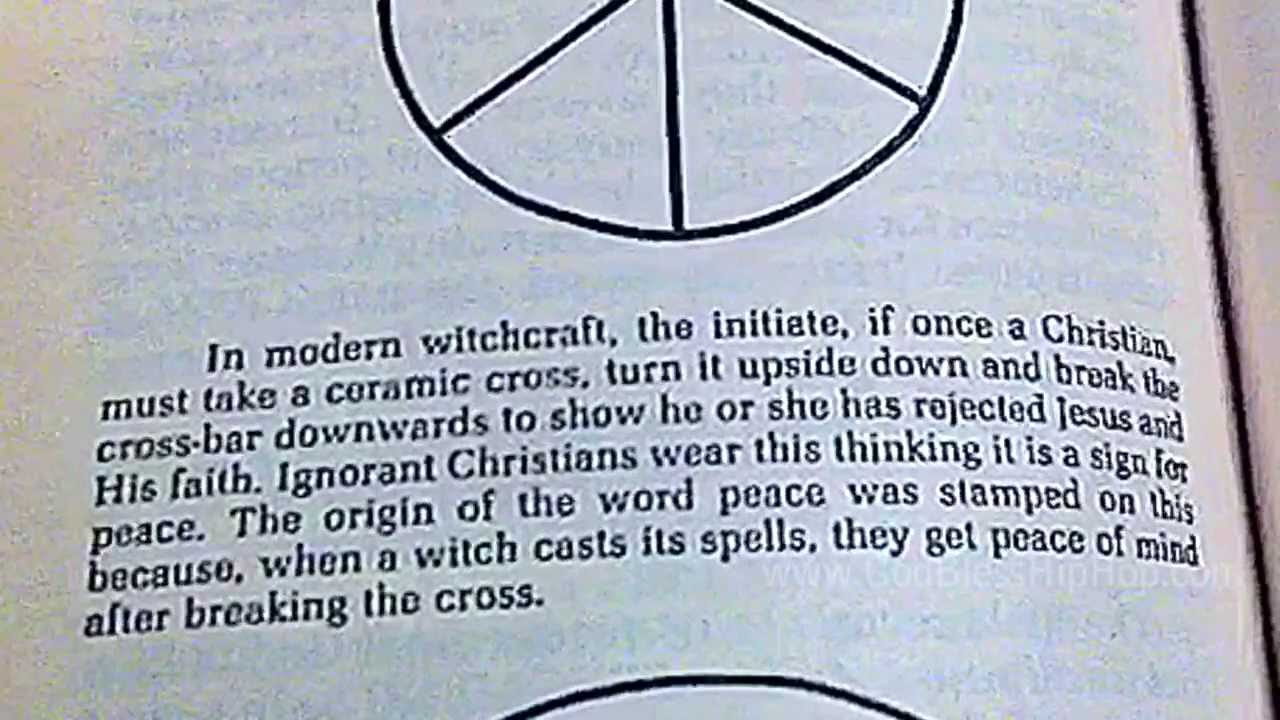 The Origin Of The Peace Symbol Satanic Illuminati 666 Book 2