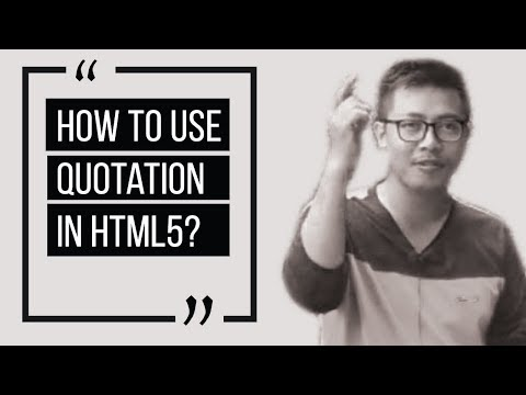 HTML Tutorials - Learn Blockquote And Quote Tags - HTML & CSS Quotation Mark [Blockquote And Quote]