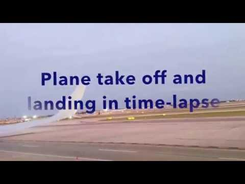 Plane flight take off and landing - YouTube