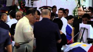 President Benigno Aquino III at the PNP-SAF necrological service