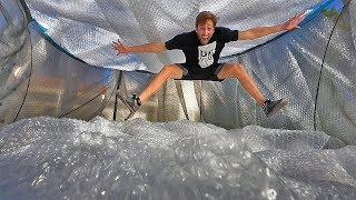Entire trampoline BUBBLE WRAPPED! *300ft*