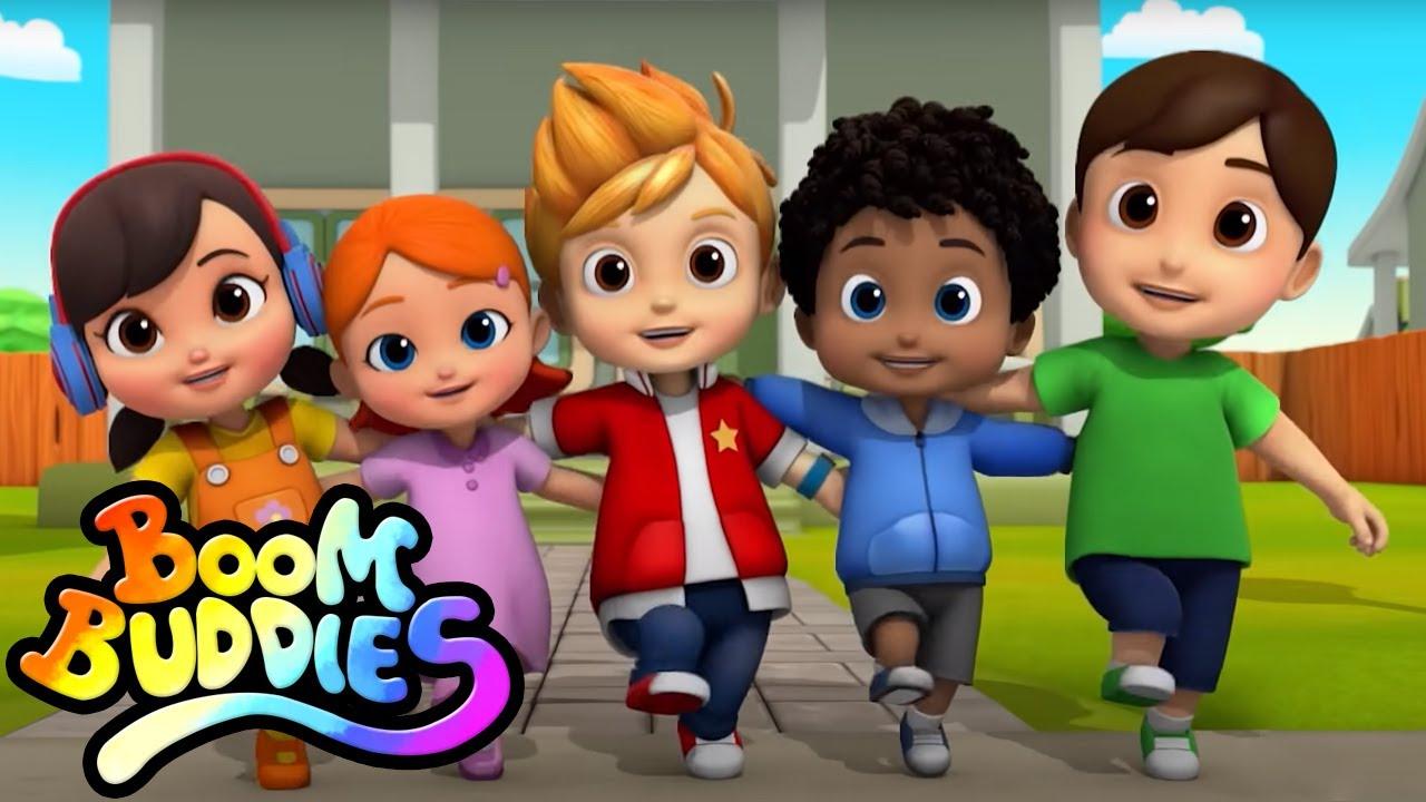 Rig A Jig Jig | Música para niños | Educación | Boom Buddies Español | Dibujos animados