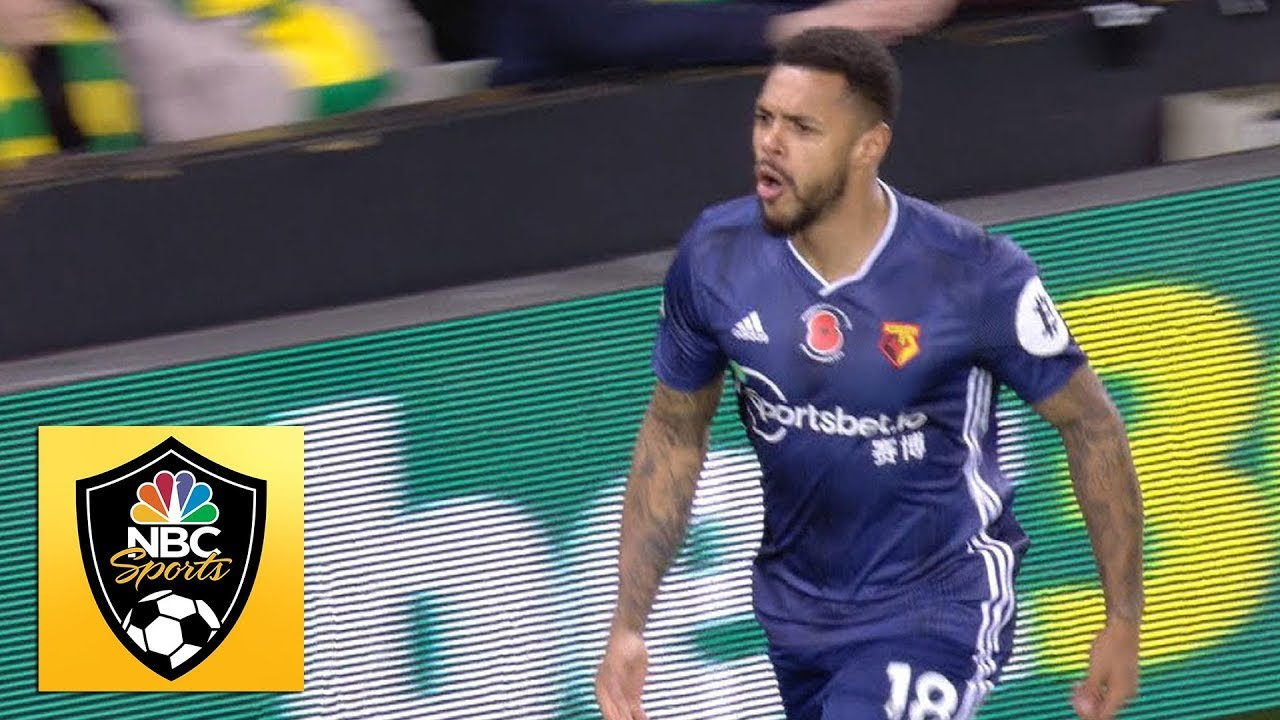 Andre Gray volleys Watford into 2-0 lead against Norwich City | Premier League | NBC Sports