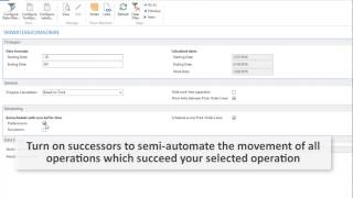 Decision Support in Microsoft Dynamics NAV Production Scheduling
