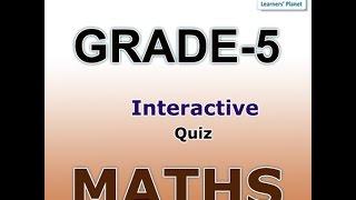 Class 5 Math Interactive Quizzes