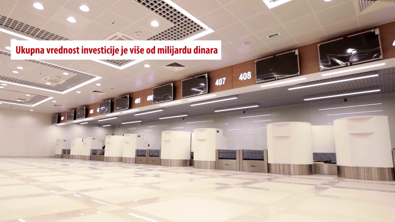 Aerodrom Nikola Tesla Video O Terminalu 1 I Terminalu 2b Youtube