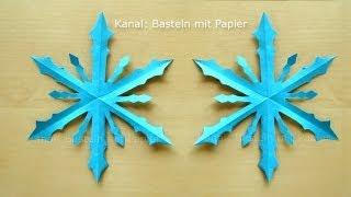 Schneeflocken basteln - Basteln Winter - Basteln mit Papier - Winterdeko