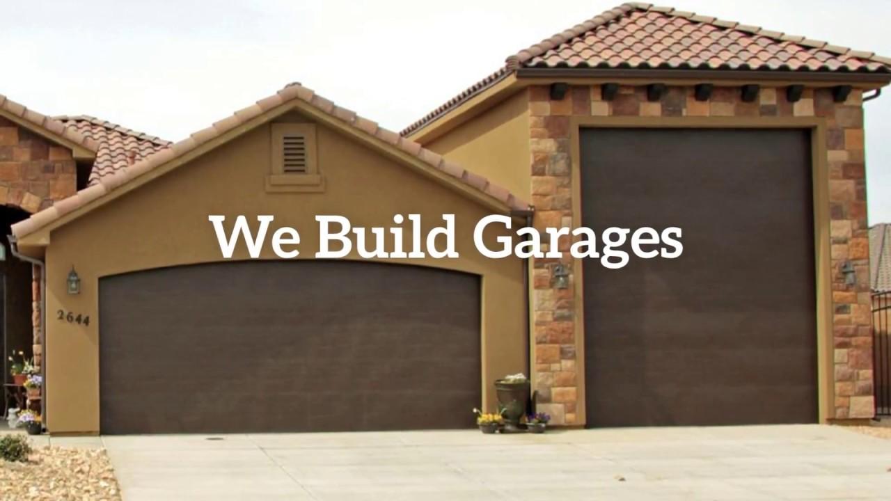 Garage building contractors youtube for Garage building companies