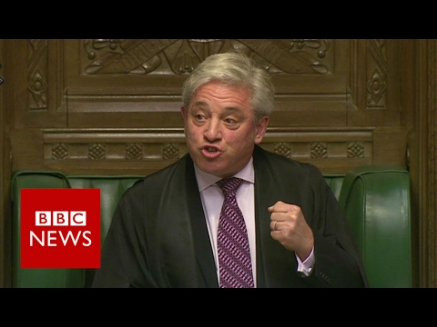 Speaker Bercow: Trump should not speak in Parliament - BBC News