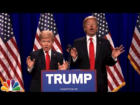 Thumbnail: Donald Trump and Little Donald (8th Grade Impressionist)