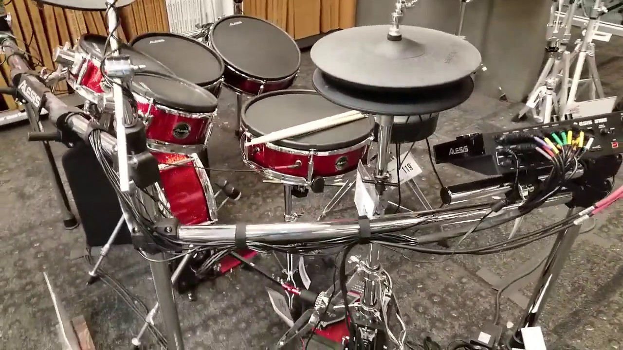 review of drum set alesis strike pro kit red spkl at guitar center youtube. Black Bedroom Furniture Sets. Home Design Ideas