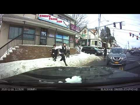 A driver in Monsey helped a pair of school children who were in danger of being struck by a car.