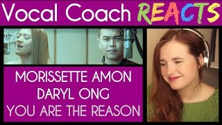Vocal Coach reacts to Daryl Ong & Morissette Amon singing You Are The Reason (Calum Scott)
