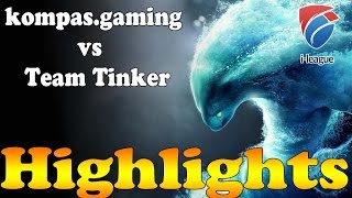 Dota 2 - Highlights : Team Tinker vs kompas.gaming - I-League !