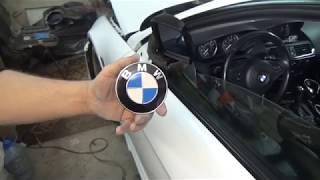 Установка значка BMW по новой технологии.