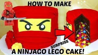 How To Make A Ninjago LEGO Cake. SURPRISE PINATA CAKE!