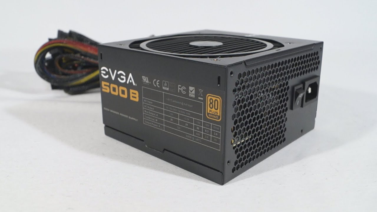 1488 - EVGA 500B 500W Power Supply Video Review - YouTube