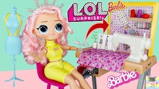 OMG Winter Disco Crystal Star DIY Fashion Clothes for School & Barbie Toy Sewing Machine Playset!