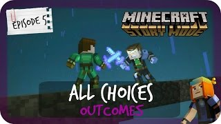 Minecraft Story Mode | ALL CHOICES & OUTCOMES | Episode 5 thumbnail