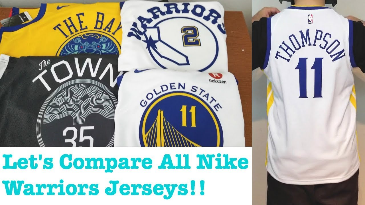 sports shoes 6360b 649bc Comparing Nike Golden State Warriors Swingman Jerseys