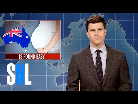 Weekend Update on Australian Woman's 13 Lb. Baby - SNL