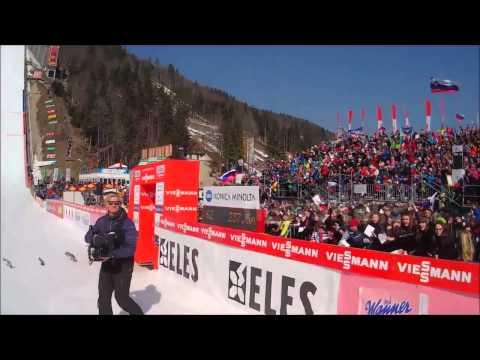Gopro downhill skiing