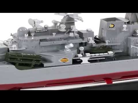 RC Battleship Thunder Destroyer Warship Navy Boat 1:115 Scale War Ship Remote Control