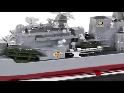 RC Battleship Thunder Destroyer Warship Navy Boat 1:115 Scale War Ship Remote Control
