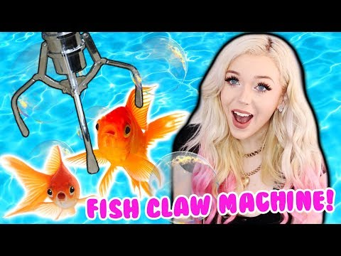 I WON A FISH FROM THE CLAW MACHINE!?!! NEOFUNS ARCADE WINS!