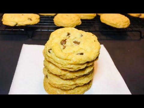 CRUNCHY CHOCOLATE CHIP COOKIES Recipe / GLUTEN FREE CHOCOLATE CHIP COOKIES