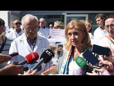 Protesta de facultativos en Córdoba por las agresiones en la sanidad pública