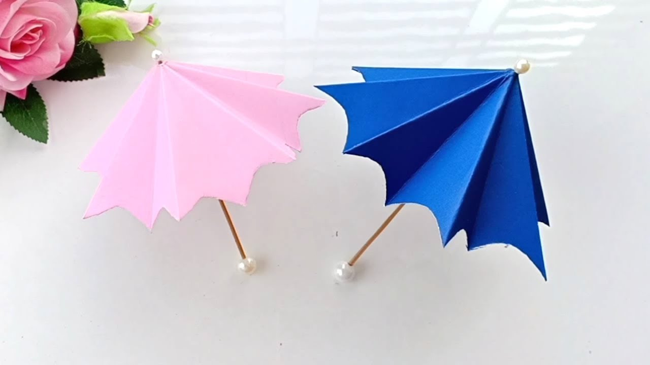 Paper Umbrella Craft for Kids - a Fun Rainy Day Idea - Easy Peasy ... | 720x1280