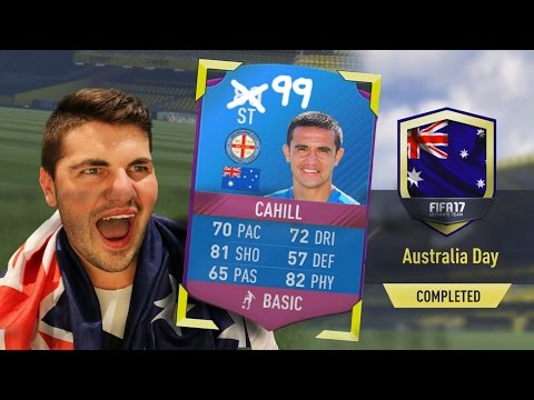 THE GREATEST SBC CARD IN FIFA 17!!! AUSTRALIA DAY CAHILL SQUAD BUILDER CHALLENGE!