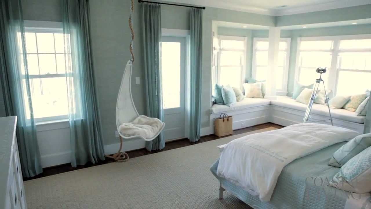 Ultimate beach house upstairs master bedroom youtube Beach house master bedroom ideas