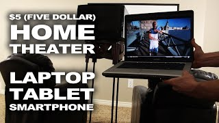 Repeat youtube video $5 Makeshift Home Theater - Easy Laptop Mod!