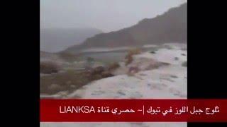 بالفيديو.. الثلوج تتساقط لأول مرة هذا الموسم في السعودية