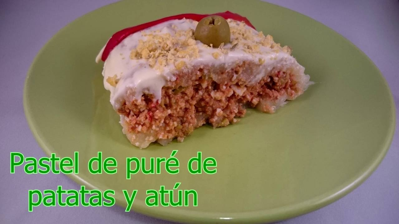 pastel de pur de patatas y at n con monsieur cuisine youtube. Black Bedroom Furniture Sets. Home Design Ideas