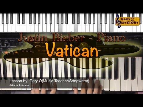 Justin Bieber - Vatican Song Cover Easy Piano Tutorial/Keyboard Lesson FREE Sheet Music NEW 2016