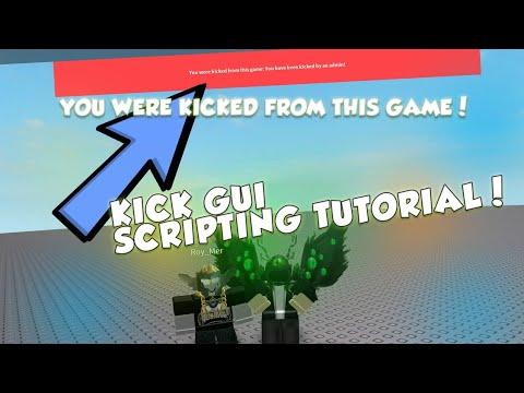 ROBLOX HOW TO SCRIPT A KICK GUI! SCRIPTING TUTORIAL