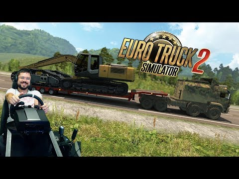 Камаз с грузом 70 тонн VS автобус - Суровая Россия день 3 Euro Truck Simulator 2 + Fanatec CSL Elite