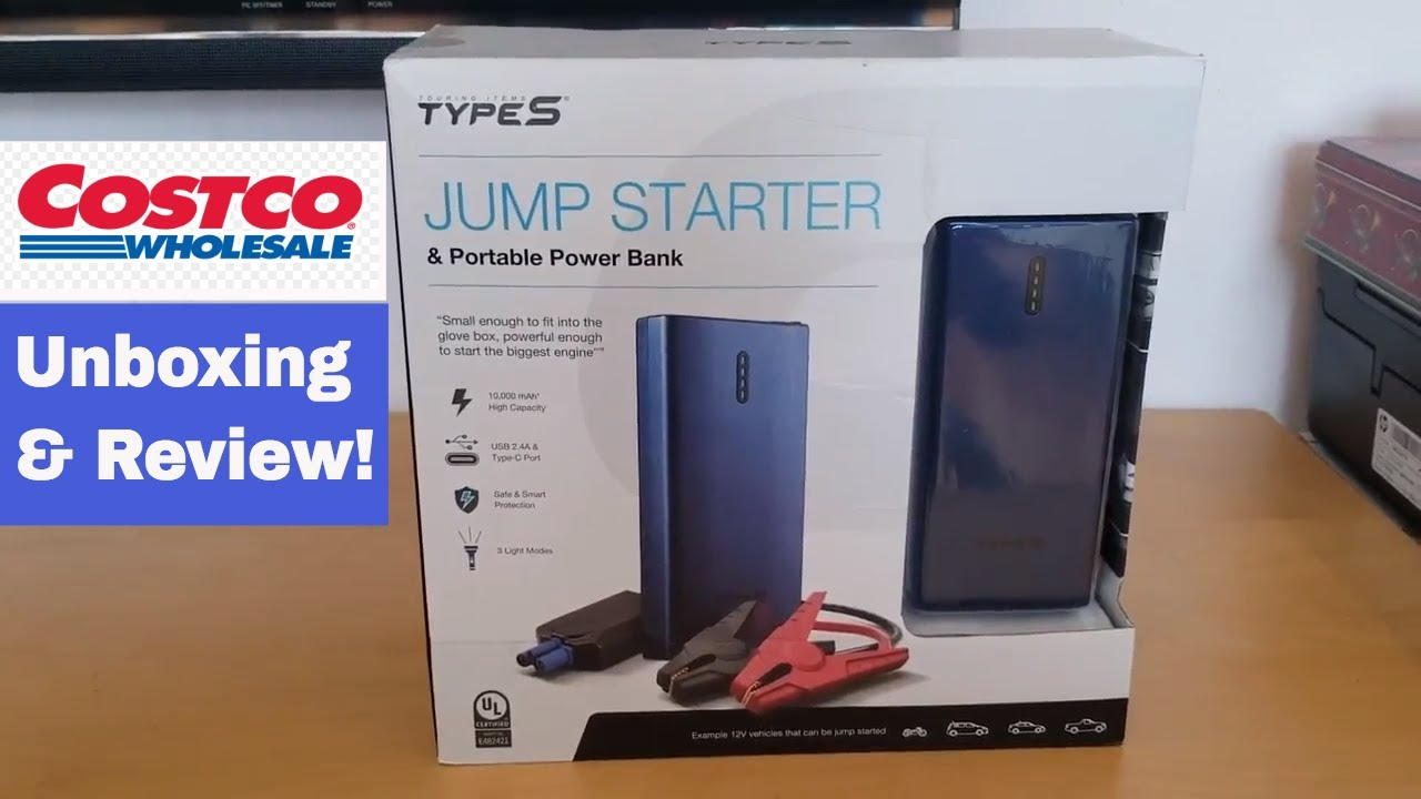 Costco Type S Jumper Starter Powerbank For 49 Unboxing Review