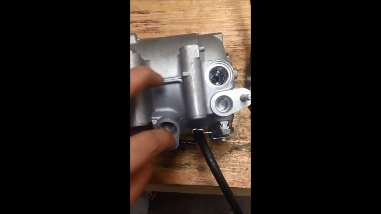 hight resolution of how to drain and add refrigerant oil to an ac compressor example on honda civic 2006 2010 youtube