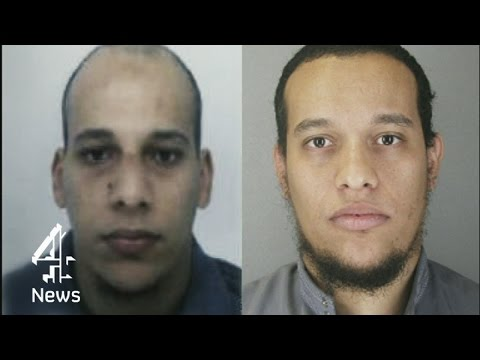 Charlie Hebdo attack suspects sighted in northern France | Channel 4 News