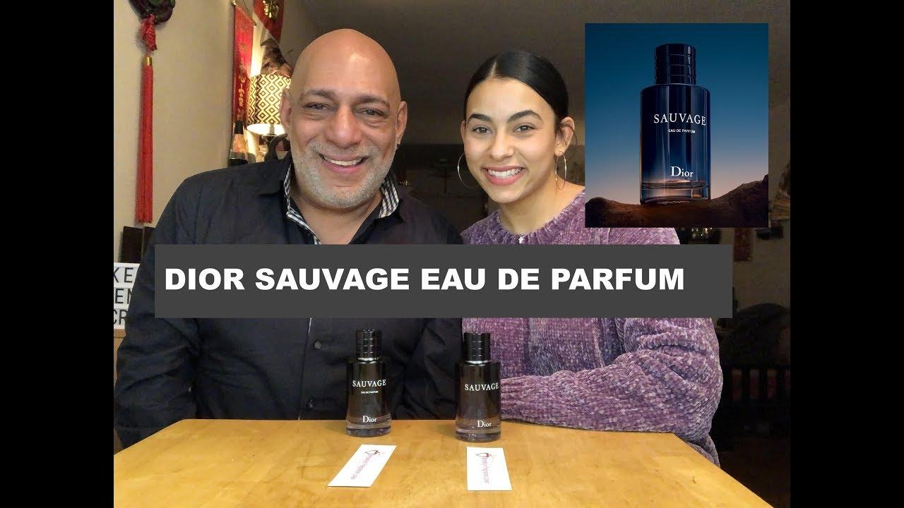 New Dior Sauvage Eau De Parfum Fragrance Cologne Review With