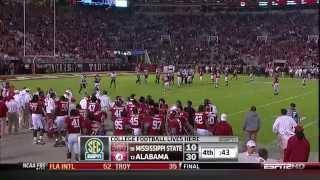 2010 #19 Mississippi State vs. #12 Alabama (HQ)