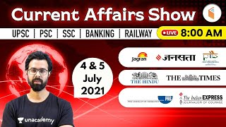 8:00 AM - 4 \u0026 5 July 2021 Current Affairs | Daily Current Affairs 2021 by Bhunesh Sir | wifistudy