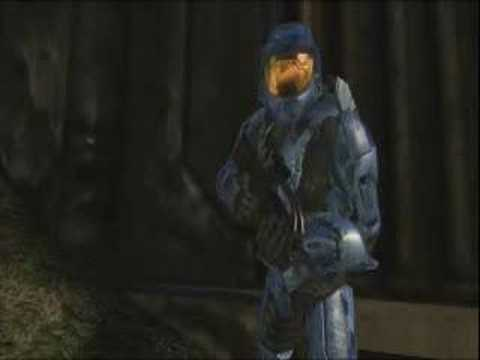 Red vs Blue  Caboose trys to say Bow Chicka Bow Wow