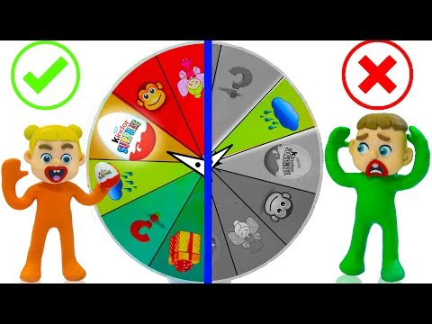 SUPERHERO BABY MYSTERY WHEEL OF FORTUNE 馃挅 Play Doh Cartoons For Kids
