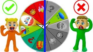 SUPERHERO BABY MYSTERY WHEEL OF FORTUNE 💖 Play Doh Cartoons For Kids